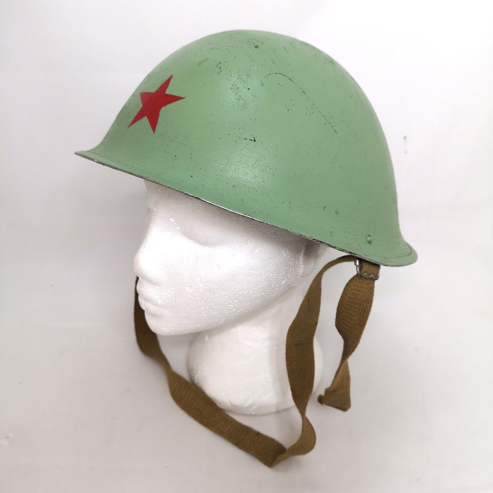 Unique British Turtle Shell Mkiv Steel Army Helmet 1954