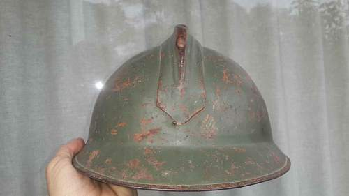 "Mexico made ""no external rivets"" casque  adrian  helmet (mexican army)"