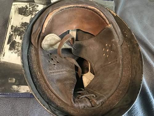 Original WW2 MK3 helmet and 1944 dated dipatchet riders helmet with unknown camo?