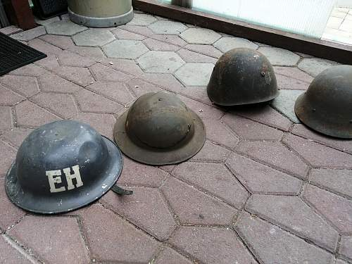 Can anyone help me identify these helmets?