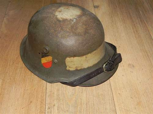 A childs toy helmet