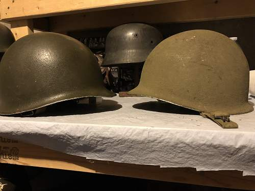 M1 helmet wartime repaint