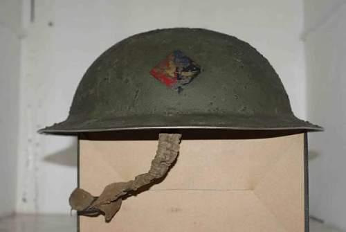 Insignia on british helmet