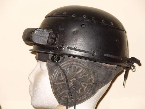 British mark 2 tanker helmet-mint? But with unusual ear communication flaps? Help