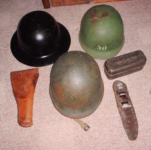 Help identifying these helmets, please?