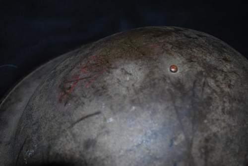 M1917 Brodie, odd markings. Need help identifying.