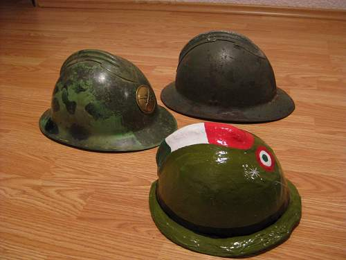 Three diferent  Adrian-helmets from Mexico