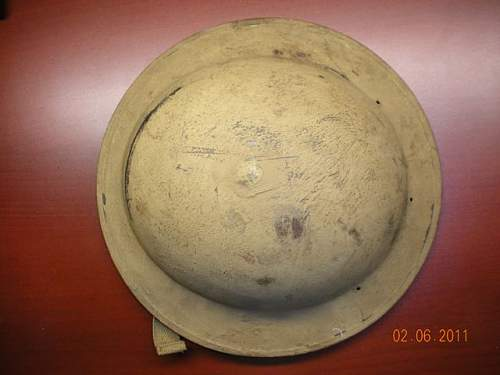 WWII British MkII Helmet - Tan painted