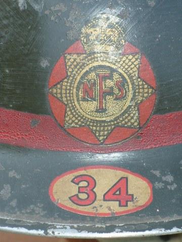 British National Fire Service helmet