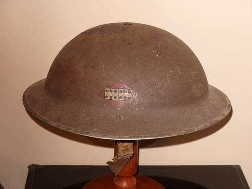 WW2 Home Front 'Trench Art' helmet humour