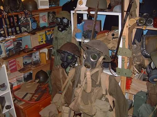 THE WAR ROOM, Mostly British helmets