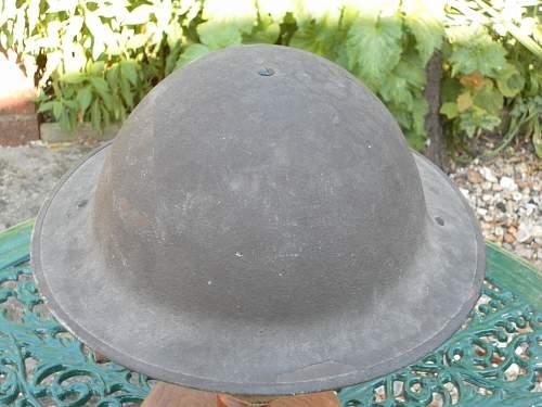 saved from the scrap man..ww2 British helmet shell