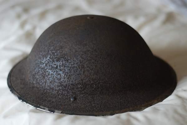 Help identifying a British MkII helmet