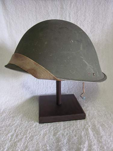 WW2 Mk3 British Turtle Helmet Named and Dated 1944