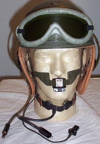 My mint WWII Wilson made Tankers helmet. All decked out and ready to use on a Sherman tank