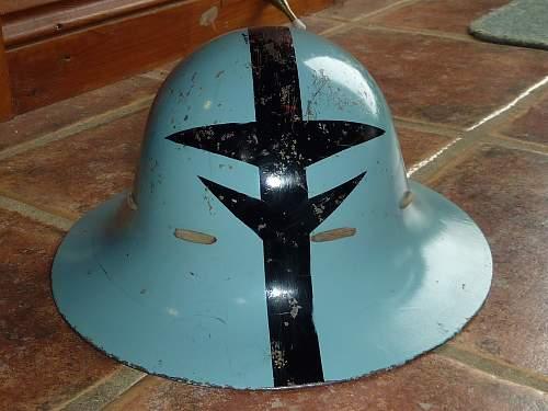 Civil defence / Zuckerman helmet.