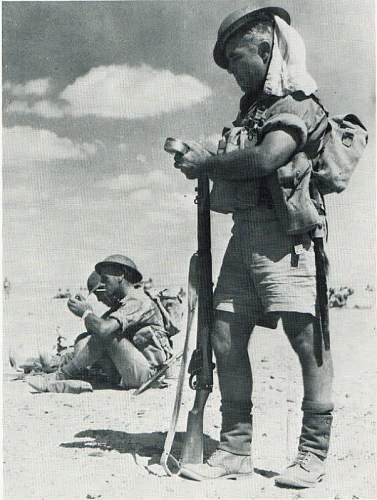 Helmet South African WW2 ETO Broadie
