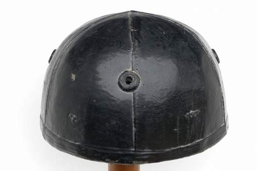 Canadian helmet, crash,  tank battalion