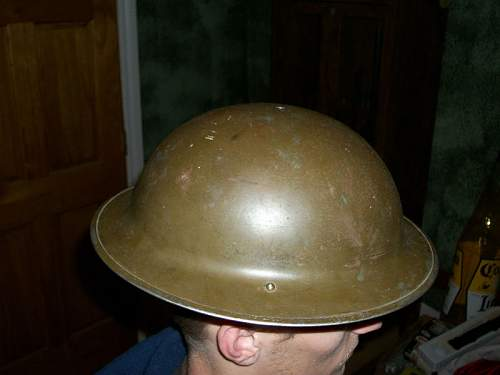 MK II 1940 Helmet Canadian Army is this Helmet Authentic - If so how much is it worth?