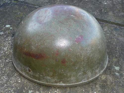 Post war Parachutists helmet.