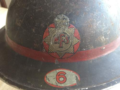 WW2 National Fire Service helmet