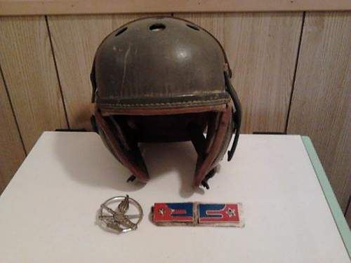 US M1938 Tankers Helmet + Insignia