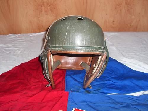 M1938 US Tanker Helmet and Italian Tanker Insignia