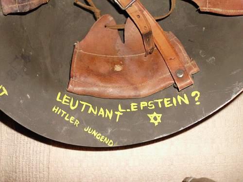 Mystery Helmet, RAF Decal, Sweedish Made, German writing?