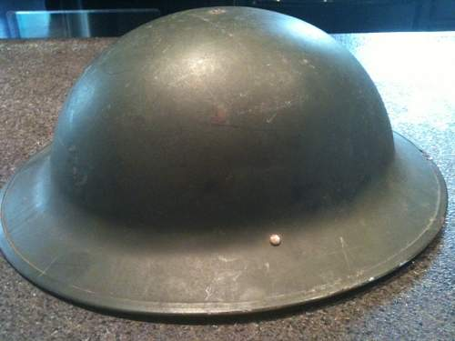Possible WWI British or American Helmet???