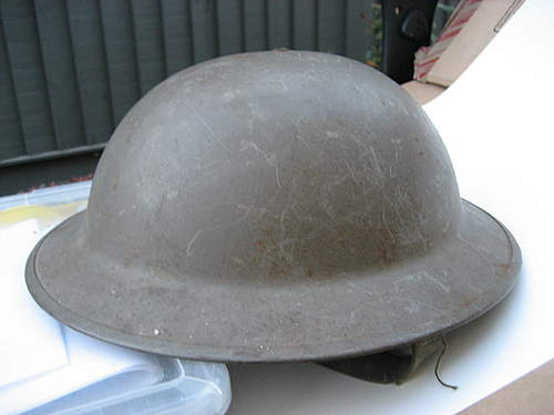 British WW2 helmet bought for ,original?
