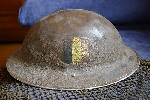 Flashed British lid found during the Battle of Normandy, 1944