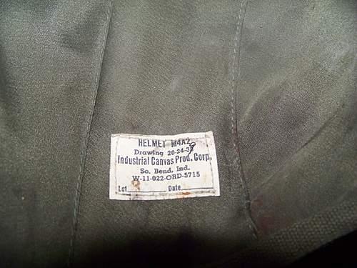 US M4A2 flak helmet