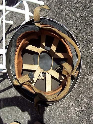 WW2  Dispatch Rider Helmet found at Car Boot Today