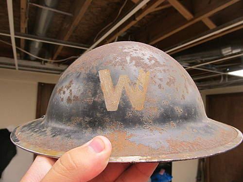 Super Salty British Air Warden Helmet