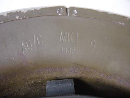 Click image for larger version.  Name:Canadian made steel helmet.Makers mark and date..jpg Views:308 Size:133.8 KB ID:4234