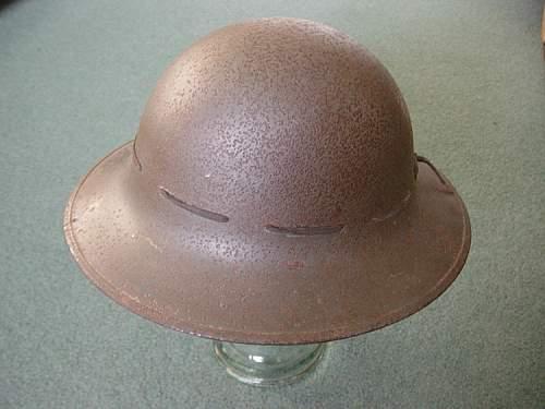"""British Firewatchers """"Zuckerman"""" steel helmet"""