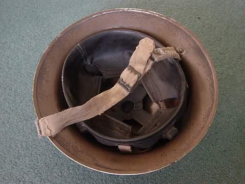 British Home Guard marked steel helmet