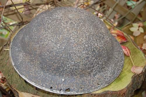 Helmet Dug up in northern France