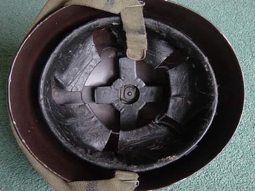 British Royal Armoured Corps pattern steel helmet