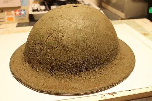 TIme sensitive, WW2 canadian camo helmet