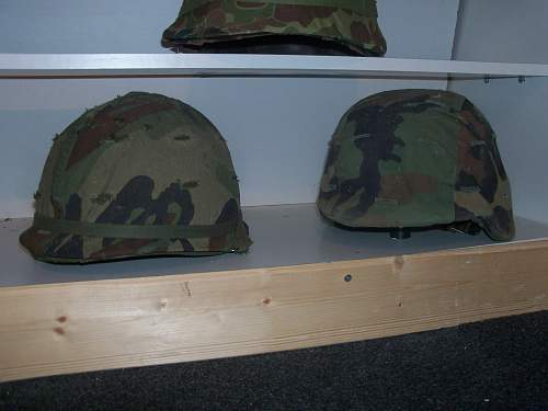 my mid 80's m1 and pasgt woodland cammo