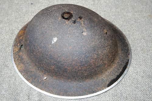 British Brodie Helmet Relic - BEF 1940?