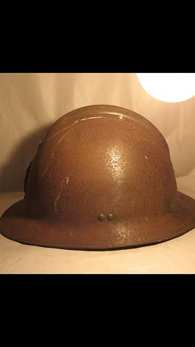French Adrian helmet