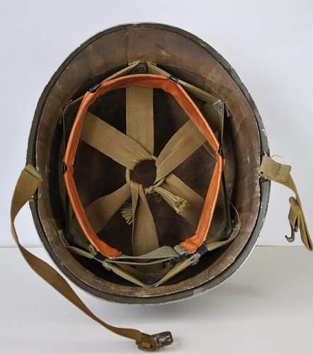 Canadian m1 helmet - wwii us helmet reissued in canada