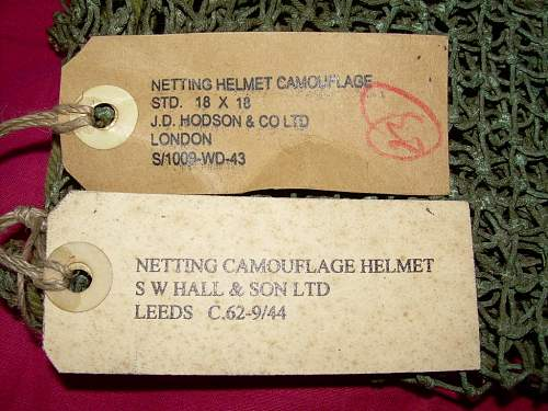 British & Canadian nets & netted helmets