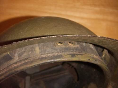 Brodie type helmet