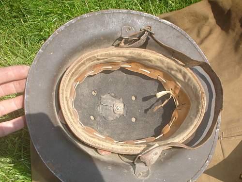 WW1 Officers Steel Brodie Helmet from the carboot