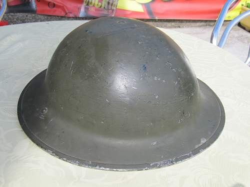 British WW2 police helmet