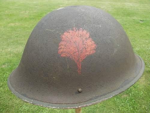 British Mk. III helmet with unit insignia