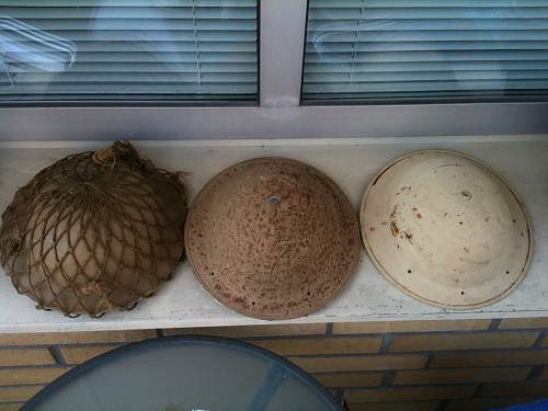 My Tiny SA Desert Tan Helmet Collection